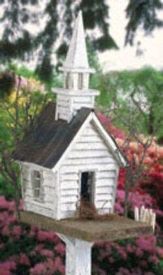 29-bh35 - Church Rustic Birdhouse Woodworking Plan - Woodworkersworkshop® Online…