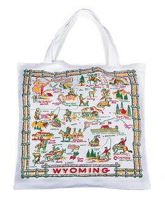 This 'Wyoming' Map Tote by Red and White Kitchen Company is perfect! #zulilyfinds