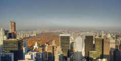 View of Central Park in NYC from The Rock observation deck.