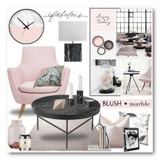 """Blush + Marble Interior"" by brendariley-1 ❤ liked on Polyvore featuring interior, interiors, interior design, home, home decor, interior decorating, ESPRIT, Ryan Studio, ferm LIVING and CB2"