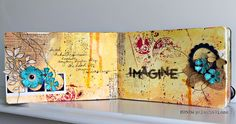 Design team member @Ronda Palazzari shares a tutorial today showing how she created these colorful mixed media art journal pages. Find the details on our blog: http://sizzixblog.blogspot.com/2012/07/imagine-art-journal-pages.html