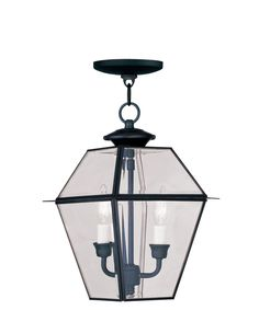 "Westover 9"" 2 Light Outdoor Hanging Lantern in Black"