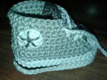 Baby-Schuhe Turnschuhe gehäkelt