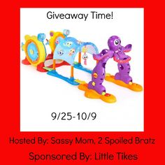 This giveaway is for Little Tike Lil Ocean Explorers Line: 3 in 1 Adventure Course ends 10/9