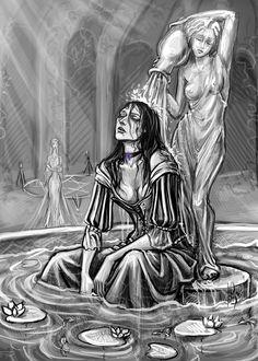 Yennefer decompressed art by Anastasia Kulakovskaya (Witcher)