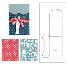 658189 Sizzix Bigz XL Die w/Bonus Textured Impressions - Gift Card Holder and Snow Village Set