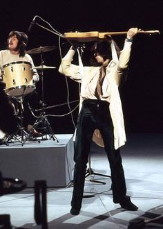 Jimmy Page and John Bonham, 1969