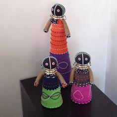 3 african dolls