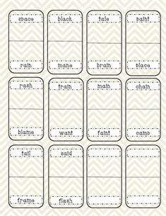 Words Their Way games and worksheets for every sort of the