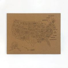 DIY Corkboard Map Cork map Cork and Crafty