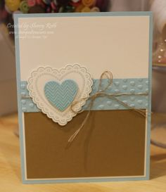 Sherry's Stamped Treasures: Hearts a Flutter Card