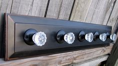 Coat Rack From Reclaimed Cabinet Drawer On Black Distressed Panel With Clear…