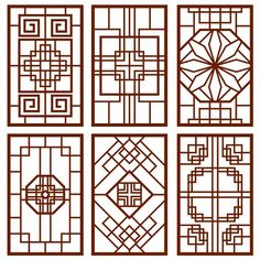 Wood Carving Designs, Wood Carving Patterns, Wood Patterns, Gate Design, Door Design, Design Design, Vector Design, Chinese Wall, Chinese Architecture