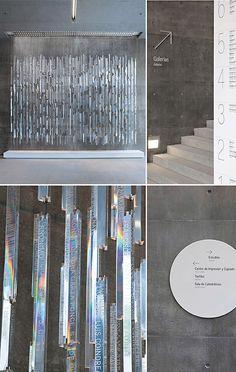 polished Plexiglas rods create prism installation / by Pentagram for Centro Roberto Garza Sada