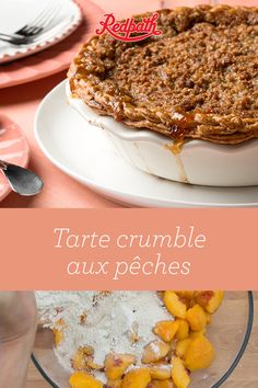 Want to bake a pie that's as pretty (and tasty!) as a peach? Our Peach Crumble Pie recipe will do the trick! Filled with delicious peaches, topped with almond, oat, and cinnamon crumble and ringed b Peach Crumble Pie, Cinnamon Crumble, Pie Recipes, Dessert Recipes, Recipies, Low Cal Lunch, Perfect Pie Crust, Crockpot, Fall Baking