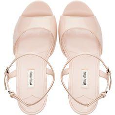 CLOGS (€1.700) ❤ liked on Polyvore featuring shoes, sandals, heels, clogs footwear, heeled clogs, clog shoes, miu miu shoes and miu miu clogs