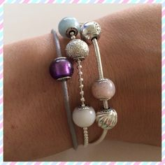 New fabric bracelet with Faith charm by Pandora Essence ... In love!  www.morethanwords.com  1-901-755-4388