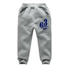 Spring Autumn Boys Jogging Pants Printed Letters Sports Pants For Boys And Girls 2-7 Years Children Trousers Kids Sweatpants