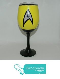 Star Trek inspired wine glass from Custom Creations by Danielle LLC https://www.amazon.com/dp/B0163FPQJA/ref=hnd_sw_r_pi_dp_fOiVybE4E2NAS #handmadeatamazon