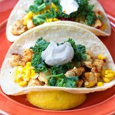Habanero chicken tacos