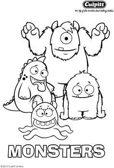 Get your fab free monster colour in sheet to keep your little monsters entertained. Head over to www.culpitt.com for lots more.