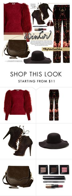 """Sweater Weather"" by aidasusisilva ❤ liked on Polyvore featuring Sonia Rykiel, Roberto Cavalli, Giuseppe Zanotti, Rebecca Minkoff, Bobbi Brown Cosmetics, H&M, Louis Vuitton and wintersweater"