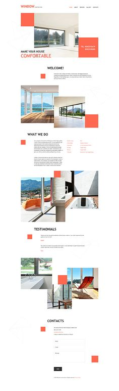 Window Contractors & Designers #website #template. #themes #business…