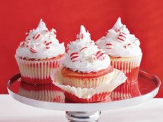 Swirled Candy Cane Cupcakes Recipe from Betty Crocker