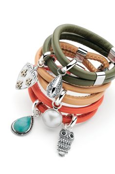 Beautiful stirling silver Najo leather and semi-precious stones make a very chique and distinctive look.
