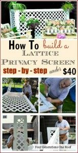 How To Make A Lattice Privacy Screenprivacy fence On A Budget