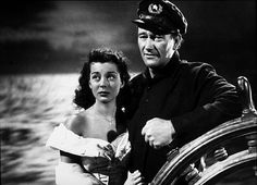 """Wake of the Red Witch,"" Republic 1948. Gail Russell and John Wayne."