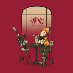 Aww, it's Jayne and Vera on a date at the SHINY Cafe! #Firefly #Serenity #Browncoat