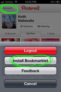 Pin it button for iPhone! Love
