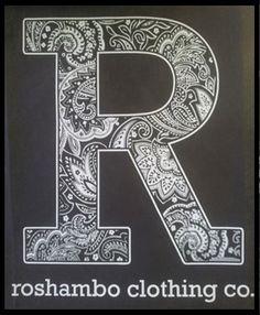 Roshambo clothing tee printed at Colourworks screen printers new zealand WWW.ColourWorksnz.Com