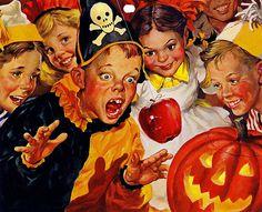 1950's Charles Dye Halloween Calendar