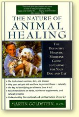 The Nature of Healing, by Martin Goldstein.  He lists all the tools of his trade including the use of homeopathics, acupuncture, vitamins, supplements etc., that he will use to treat specific illnesses. The Source Guide listed in the back of the book is enough of a reason to purchase it. In it, he lists the manufacturers whose products he uses in his own practice. It also lists a compendium of holistic books, newsletter, web sites, veterinarians, and associations.