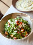 ARUGULA SALAD WITH PERSIMMON, POMEGRANATE, AND SHERRY VINAIGRETTE - VALLEYBRINK ROAD