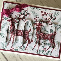 Stampin' Up! Stampin Up Christmas, Christmas Cards To Make, Xmas Cards, All Things Christmas, White Christmas, Holiday Cards, Stamping Up Cards, Winter Cards, Christmas Projects