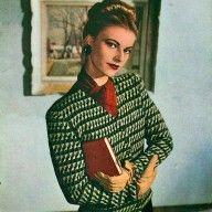 1940s Check Patterned Jacket Vintage Knitting Pattern