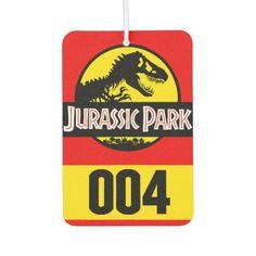 Shop Jurassic Park Car Badge Air Freshener created by Zefkiel_Noir_Design. Lightning Bug Crafts, Jurassic Park Car, Dino Trex, Car Badges, Id Badge, Air Freshener, Gifts For Family, Harley Davidson