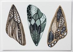 Butterfly Moth Wings Watercolor Art Painting - Archival Print - 8x10 White Moth Wings. $20.00, via Etsy.