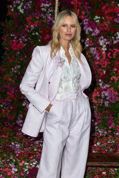 Out & About:Karolina Kurkova wears the Corsage Applique Blouse, Corsage Tailored Blazer & Tailored Pant from our Resort 19 Ready-to-Wear Collection for David Jones.The look will be available instore and online in October. Australian Fashion Designers, Corsage, Celebrity Style, Ready To Wear, Jumpsuit, Vogue, Blazer, Celebrities, Blouse