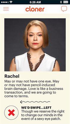'Orphan Black': So, You Think You Wanna Date a Clone? Swipe Through These 7 Profiles     EW.com