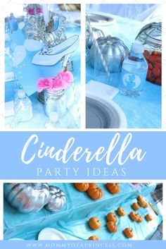 Cinderella Birthday Party Ideas including decor inspiration, food menu ideas, activities and more! Includes free download party printables with water bottle label, cupcake circles, favor box fold up and more!
