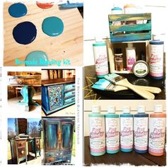 Chalk paint furniture - Bermuda Blending Technique Step by Step Chalk Paint Furniture, Furniture Projects, Furniture Makeover, Diy Furniture, Cute Diy, Pixies, Diy Design, Diy Home Decor, Easy Diy