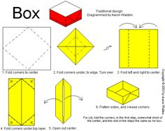 simple origami box - Google Search