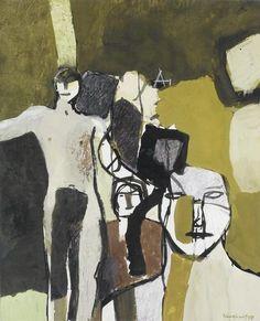Keith Vaughan Amacuzac - Group of Figures X 18 in. gouache and pastel 1959 Portraits, Portrait Art, Figure Painting, Figure Drawing, Figurative Kunst, Art Studio Design, Art Sketchbook, Painting Inspiration, Modern Art
