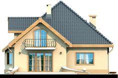 Elewacja DN Magnolia CE Bungalow House Plans, Bungalow House Design, Beautiful Small Homes, 4 Bedroom Apartments, Micro House, Design Case, Home Fashion, Sliding Doors, Magnolia