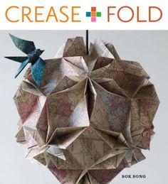 Origami instruction - wonderful cover image.  I'd love to create a piece like this.