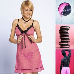 SERENA #poland #unikat #underwear #lingerie #pijama #sexy #style #man #cookies #lace #pink #black #serena